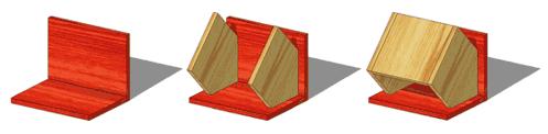 Zusammenbau der Vogelhaus-Bauteile
